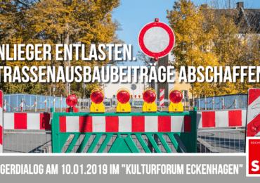 """""""Anwohner entlasten. Straßenausbaubeiträge abschaffen?"""" – Bürgerdialog mit Fachleuten"""